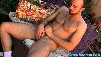 Horny Mason Lear jacking off and stroking dick outdoor