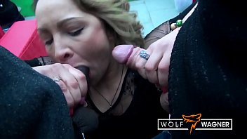 Horny Eva Adams loves getting 2 stiff dicks for her wet holes at the same time! WolfWagner.com
