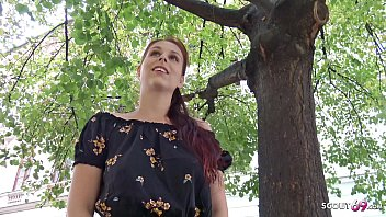 GERMAN SCOUT - SHY REDHEAD NATURAL COLLEGE TEEN SEDUCE TO FUCK AT PICKUP CASTING
