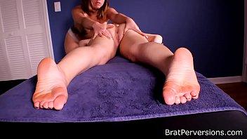 Blonde Girlfriend got a Happy Ending Lesbian Massage