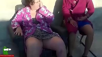 The old armchair is good to fuck the fat girl outdoor. SAN330