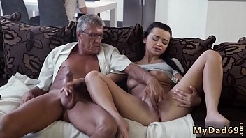 Skinny granny anal old and dad daddy father patron' crony's daughter
