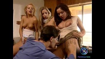 Group sex porn movie - Slutty girls sharing the studs cum on her their filthy mouths