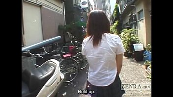 Japanese schoolgirl marbles insertion for jump rope Subtitled Image