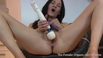 Pulsating female orgasms Babe with small tits masturbates and squirts to real pussy pulsing orgasm