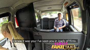 Female Fake Taxi Busty Driver Swallows Actor's Cum