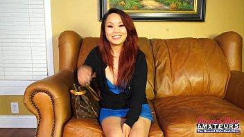 Asian dirty whore Asian amateur girl gets dirty on casting couch