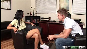 latin teen getting her pussy fucked hard in the teachers office