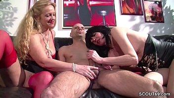 German Huge Cock Boy Seduce two MILFs to Fuck