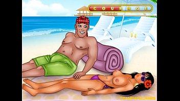 masturbating creep fucks girl on the beach 2