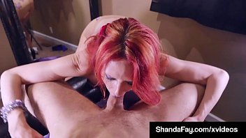 Hot dick sucking lips Lucky dick sucked by shanda fay who twirls cock gets cum