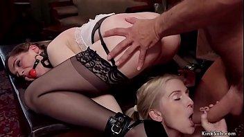 Slave in latex anal fucked in ffm