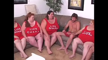 BBW lifeguard sluts have a lesbian orgy with toys