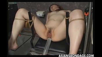 Mature with slave - Japanese slave gets pussy filled by cum