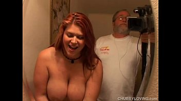 Raunchy red head Eden is a cute chubby chick who loves to fuck