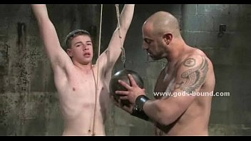Teen slave gets collared hit with a riding crop and brutally used by his Master