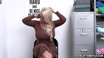 Blonde bustylicious MILF thief Alura Jenson got caught and punished for sex with a horny police officer