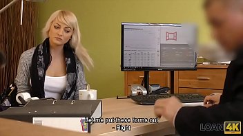 LOAN4K. Passionatre fucking on the table in office of loan manager