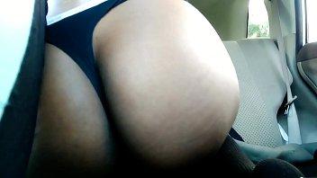 Wildcat in the car twerking topless