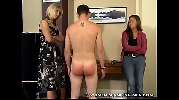 Spanking boy office
