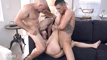 Pretty And Raw - Hot Leah Lee Fucked By Two Cocks