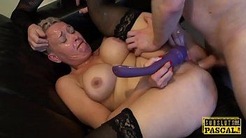 Busty uk submissive gilf gets ass roughfucked