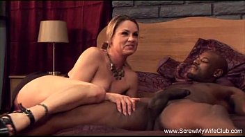 Interracial wives cuckold - Horny wife fucks bbc for hubby