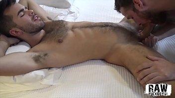 RawFuckBoys - Hunk breeds bareback after sucking big dick in jockstrap