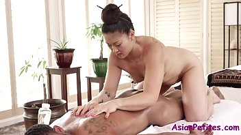 Asian MILF's Oil Massage Makes This Man Cum- Nyomi Star