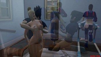 Ino y Sasuke Marido Engañado en Ejercicios Sexual Esposa Follada al frente de su Marido Cornudo Naruto Hentai Netorare صورة