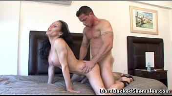 Big dick shemale sex Sexy shemale have bareback sex with him
