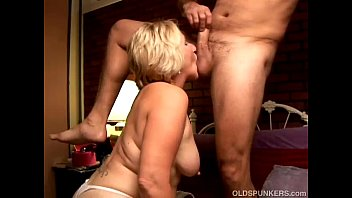 Kinky old spunker licks his asshole and sucks his cock