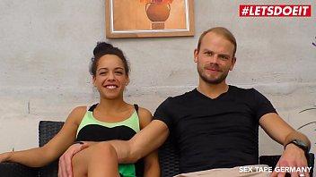 LETSDOEIT - Horny German Couple Films their Sex-Tape Outside