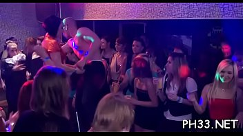 Yong girls in club are fucked hard by mature mans in arse and puss in time