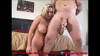 Sexy Blond Milf Slut Frigs Pussy And Performs Handjob