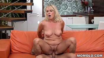 Blonde mature and her young lover