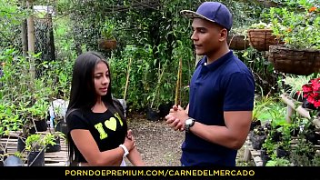 CARNE DEL MERCADO - Hot pickup and fuck with petite Colombian teen Maria Antonia Alzate