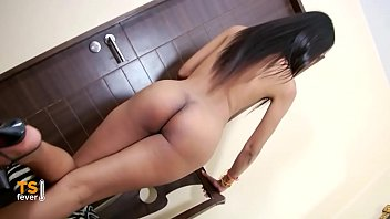 Solo ladyboy with a cute cock