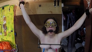 Stretching breasts - Trailer - breast press and pussy weight torture