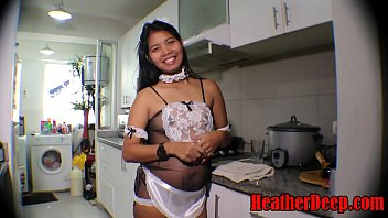 Streaming Video HEATHERDEEP.COM 19 week pregnant thai teen heather deep in maid outfits gives deepthroat and creamthroat in the kitchen - XLXX.video