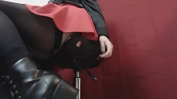 Preview Snippet Fetish Clip Underdesk Voyeur Goth Schoolgirl in Boots & Stockings