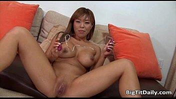 Asian Girl With Big Boobs Sucks