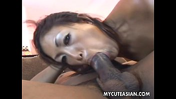 Asian bitch with a fabulous ass gets bbc fucked hard