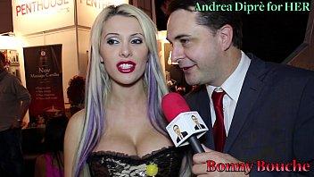 Bonny Bouche gives a blowjob lesson for Andrea Diprè
