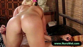 Fucking 15 guys Nuru massage shy guy fucking pussy hard 15