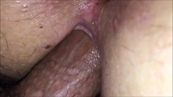 Closeup pussy fucked balls deep with inside gape pussy view