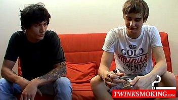 Smoking gay se - Euro twink dudes jerry and clark get together to swap smokes