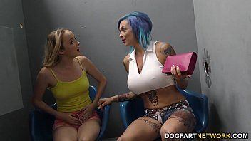Anna Bell Peaks and Iris Rose suck BBC - Gloryhole