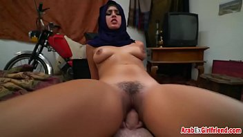 POV hairy arab girl getting smashed