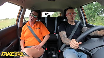 Fake Driving School Hard Rough Sex for Sexy New Instructor Elisa Tiger